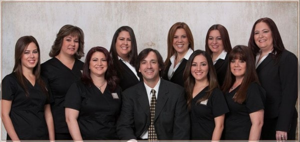 Dr. Cascante and his Kendall dental team.