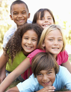 Image of children smiling after Children's Dentistry at Dr. Cascante's office